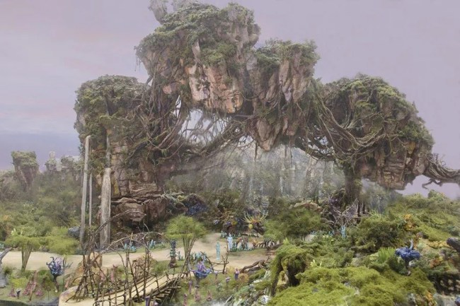 Avatar Land Concept Art - Floating Mountains