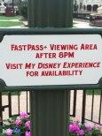 Fastpass Sign - Magic Kingdom Hub Expansion