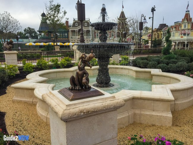 Plaza Gardens Hub Fountain - Pluto Statue - Magic Kingdom