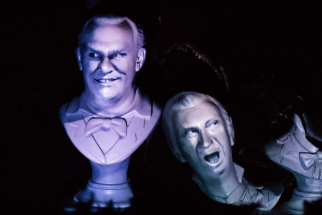 Thurl Ravenscroft, not Walt Disney, on the singing bust to the right in Haunted Mansion