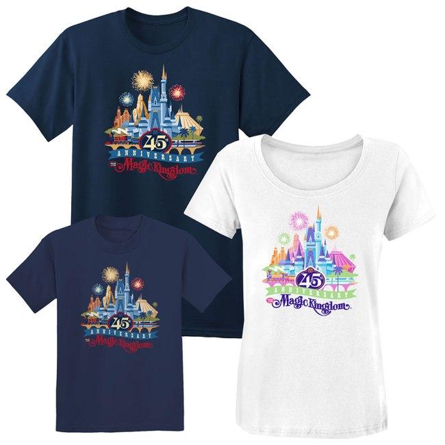 Disney World 45th Anniversary Merchandise -Shirts 2