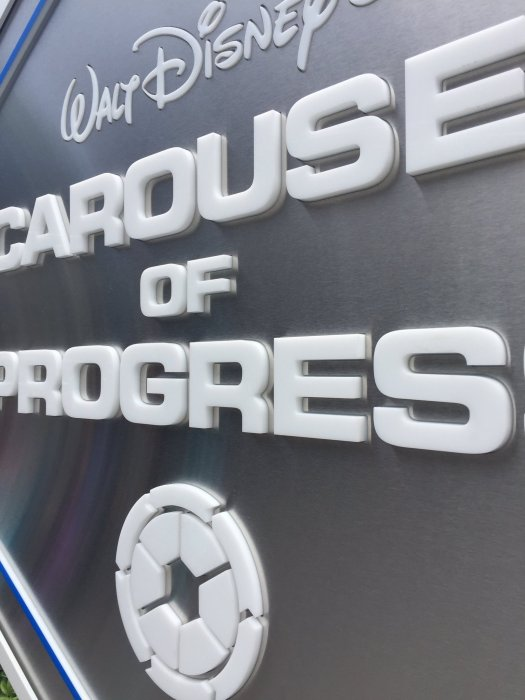 Carousel of Progress - New Sign - Closeup