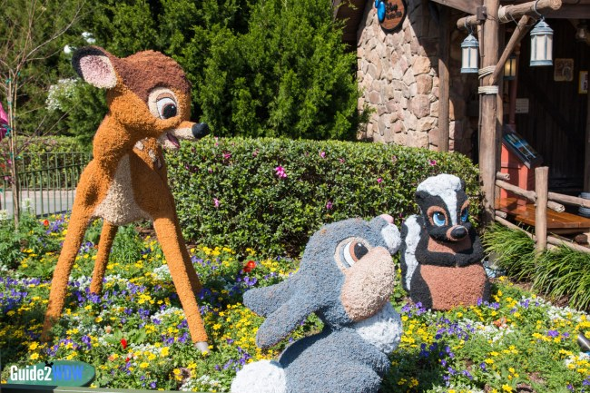 Bambi Topiary - Topiaries at the Epcot Flower and Garden Festival