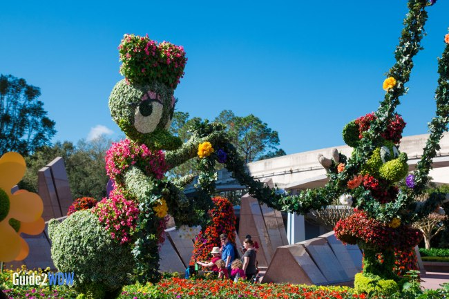 Daisy and Minnie - Topiaries at the Epcot Flower and Garden Festival