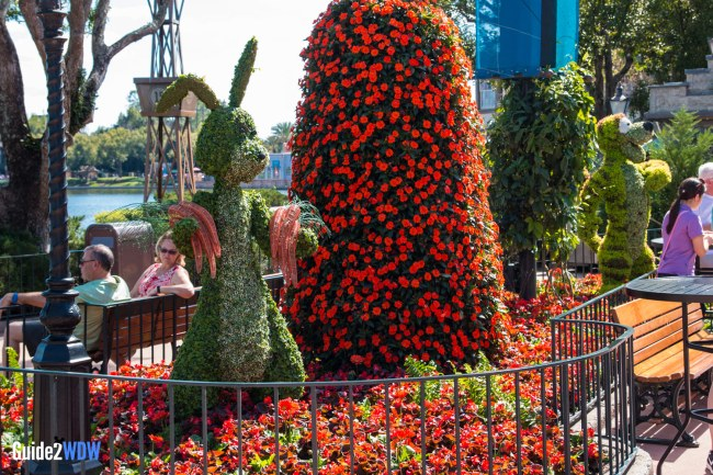 Rabbit and Tigger Topiary - Topiaries at the Epcot Flower and Garden Festival