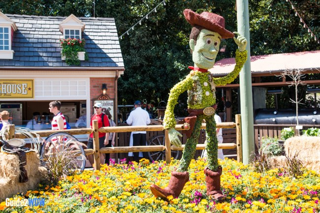 Woody Topiary - Topiaries at the Epcot Flower and Garden Festival