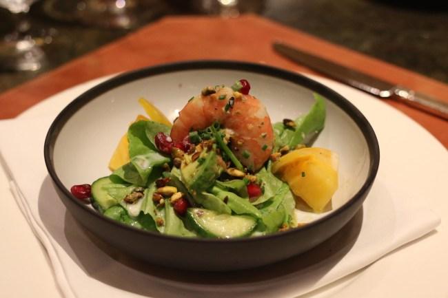 Shrimp and Avocado Salad - Napa Rose at Disneyland