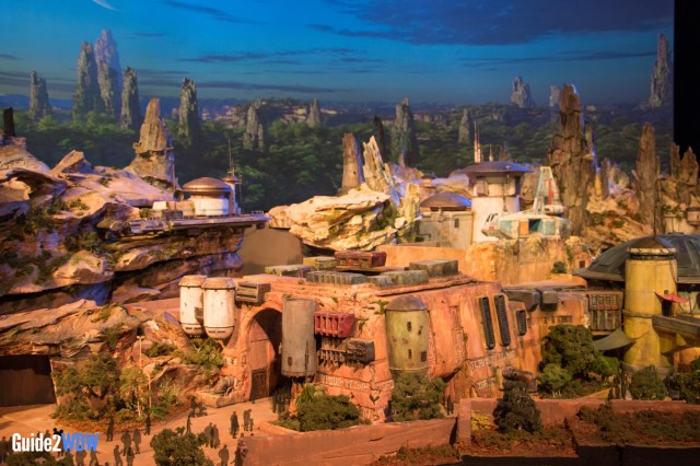 City Entrance - Star Wars: Galaxy's Edge Model - Disneyland and Disney World