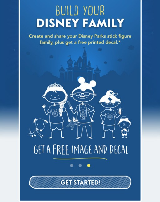 Build Your Disney Family - Disney World Freebie