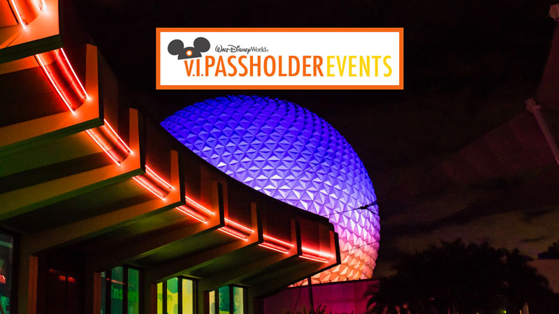 V.I.Passholder Nights at Disney World – Dates announced and registration now open.