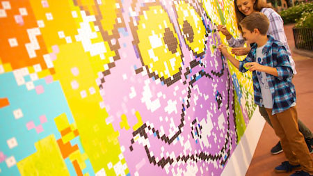 Paint by numbers mural - Epcot Festival of the Arts