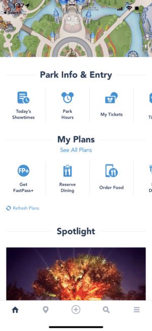 How To Mobile Order - Step 1 - Disney World App