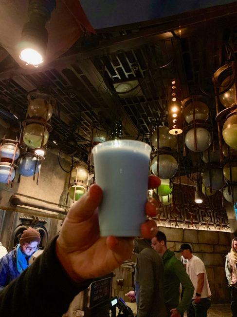 Blue Milk Stand - Star Wars Galaxy's Edge - Disneyland and Disney World Food