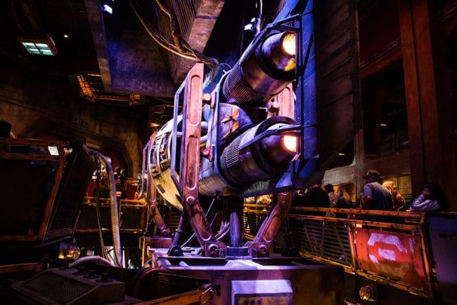 Engine - Millennium Falcon Smugglers Run Queue - Star Wars Galaxy's Edge- Disneyland- Guide2WDW