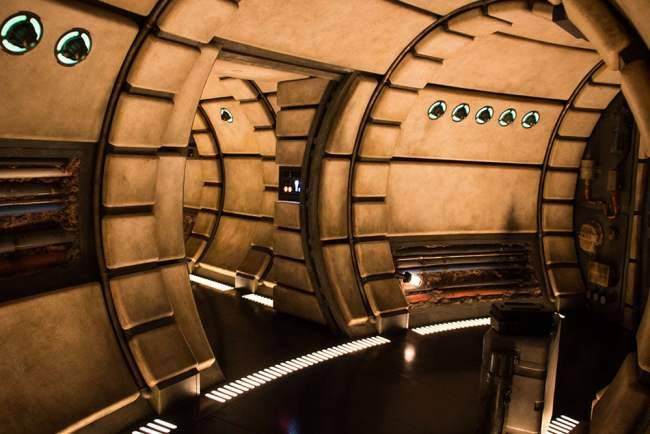 Millennium Falcon Interior 2 Star Wars Galaxys Edge- Disneyland- Guide2WDW
