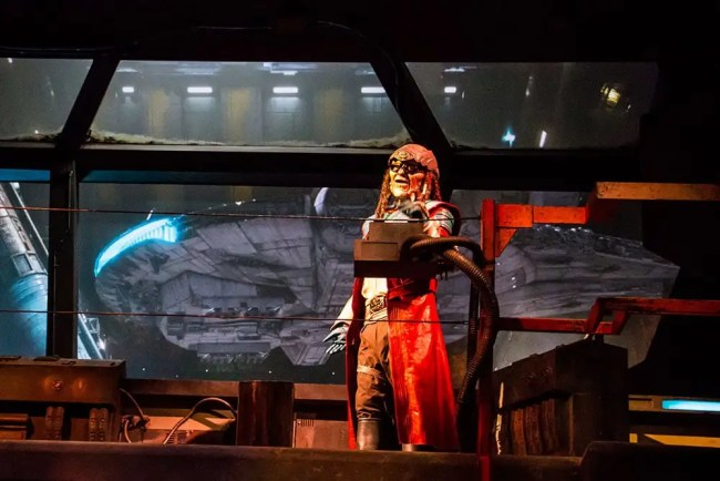 Hondo - Millennium Falcon Smugglers Run Queue - Star Wars Galaxy's Edge- Disneyland- Guide2WDW
