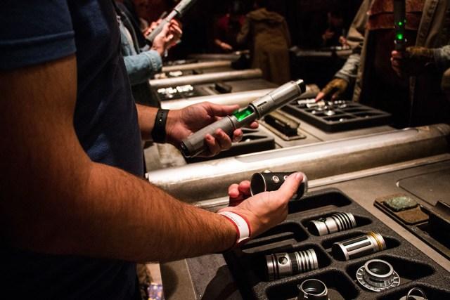 Lightsaber Building - Savis Workshop - Galaxys Edge Star Wars Galaxys Edge- Disneyland- Guide2WDW