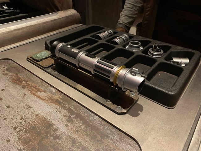 Lightsaber Completed - Savis Workshop - Star Wars Galaxy's Edge- Disneyland- Guide2WDW
