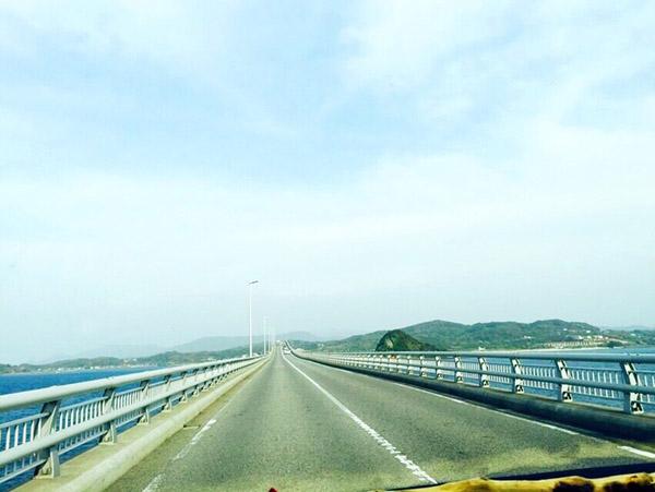 角島大橋の道