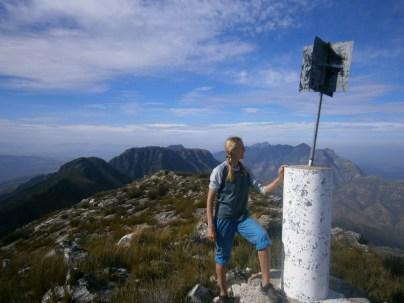 Eva at the summit beacon