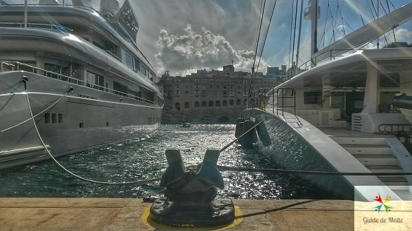 Vue de la marina de birgu