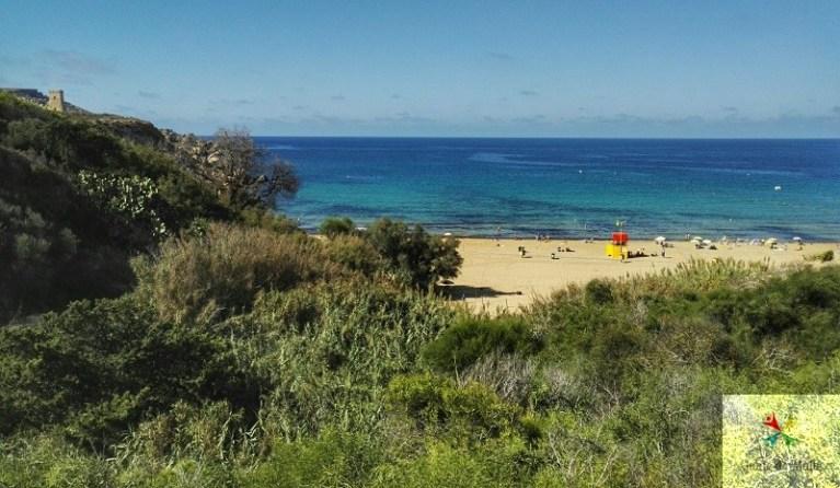 golden bay plage malte