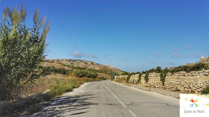 La route de Gnejna Bay