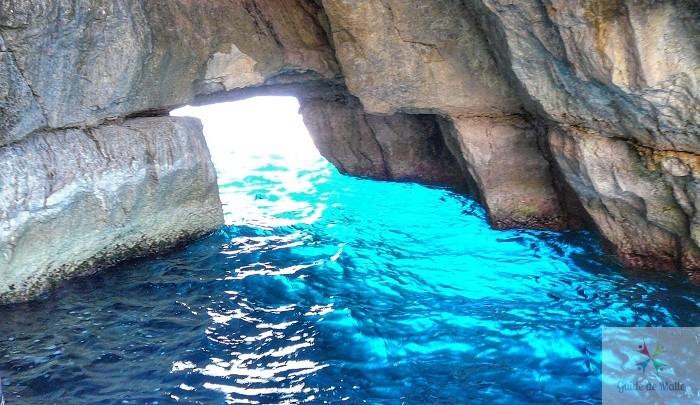 blue grotto intèrieur grotte