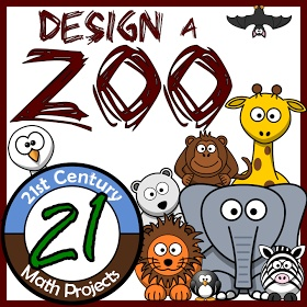 Design a zoo perimeter and area project for middle school math