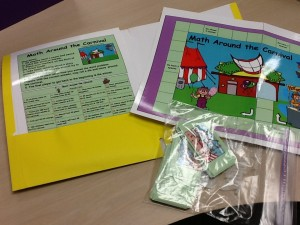 Math Stations in Folder created by Mary Peterson