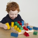 Colored Geo forms for Guided Math stations from ProEducationaltoys.com