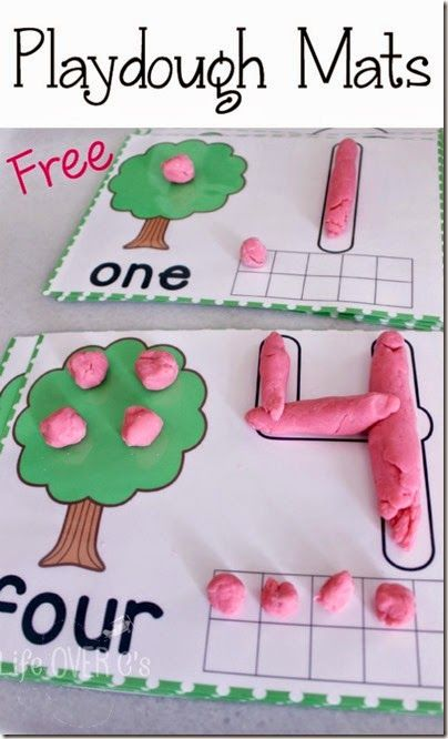 guided math playdough mats