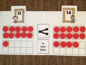 Guided Math First Grade Place Value Activities