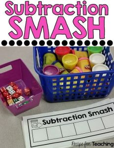 Preschool and Kindergarten Guided Math Subtraction Activities