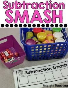 Preschool and Kindergarten Guided Math Subtraction Activities