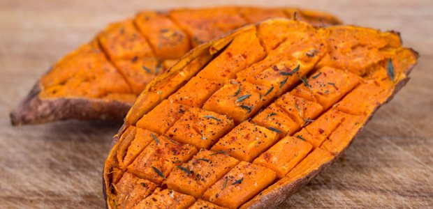 baked yam sweet potato