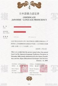 Présentation du JLPT (test de japonais)