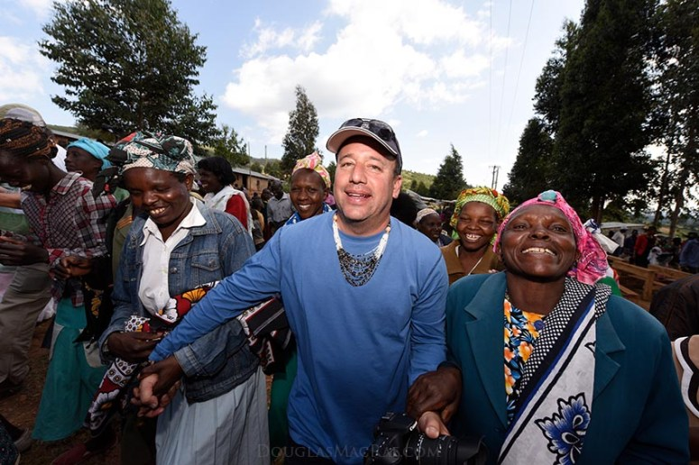 David Meltzer in Kenya with Crescent Moon Foundation