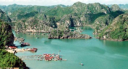 Village de Cai Beo - l'ile de Cat Ba