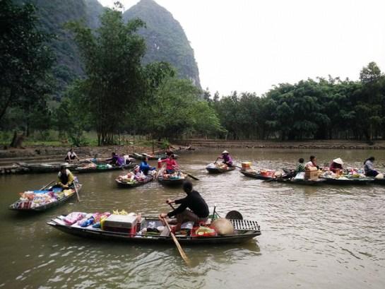 marche flottant a tam coc
