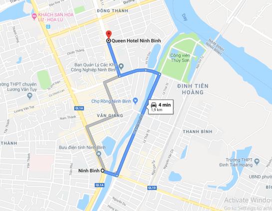 queen hotel map