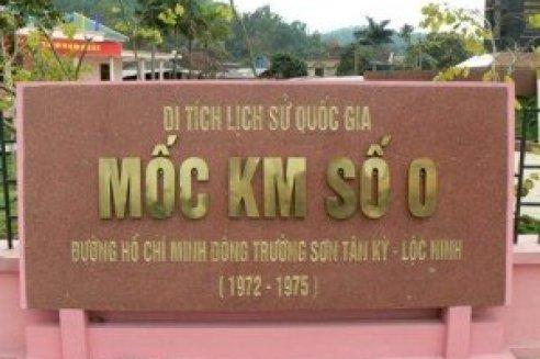 Le point de départ de la piste légendaire Hô Chi Minh Kilomètre zéro