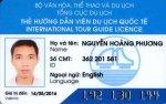 Carte de licence de guide international du Vietnam