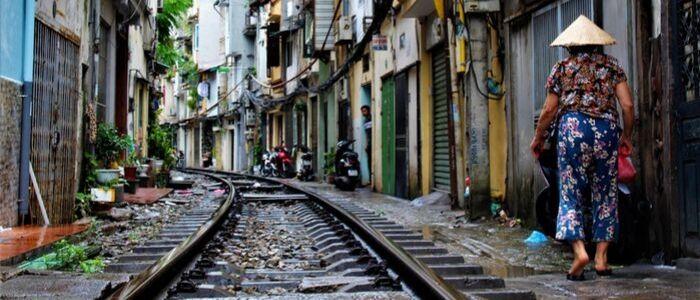 Rue de train de Hanoi