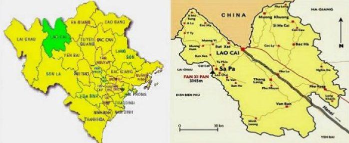 Carte Lao Cai Sapa Bac Ha