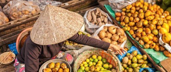 Visite le marché flottant au Delta du Mékong