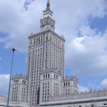 "Palace of Culture and Science is a ""gift"" from the Soviet Union for Warsaw offered in 1950s."