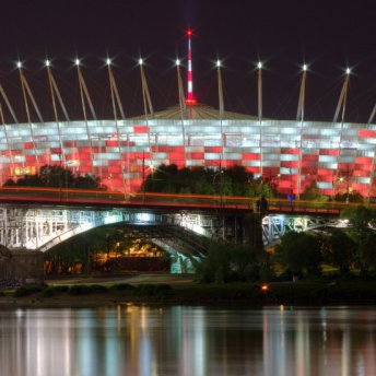 National stadium was built in 2012 for the European Championships in football. It has the capacity of 58.000 seats.
