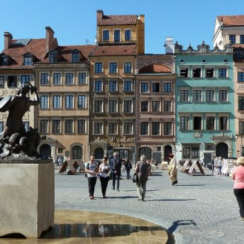 Warsaw's Old Town was rebuilt from scratch after the war.