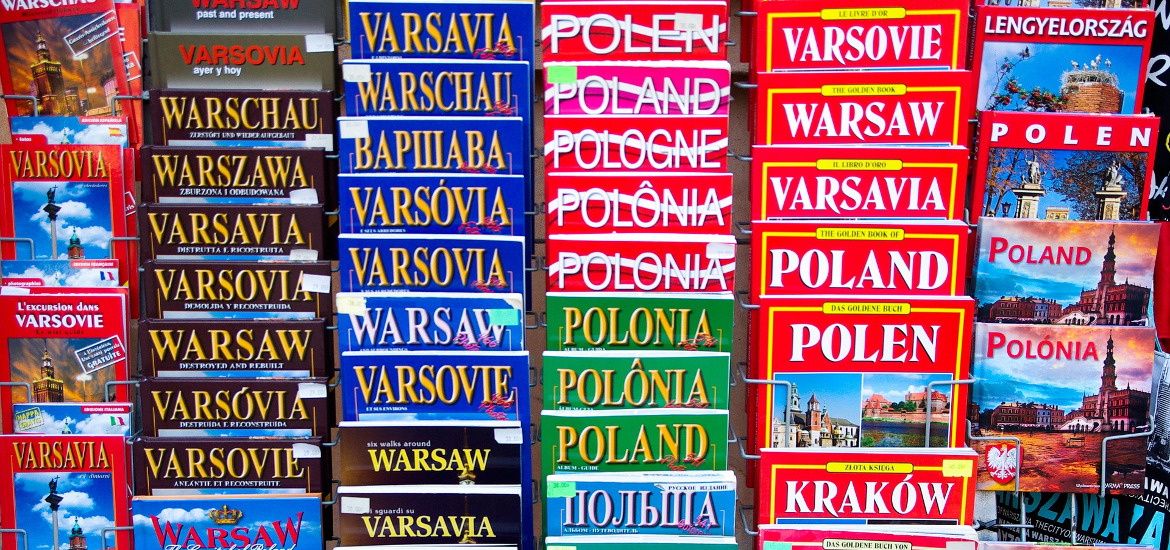 Albums with photographs from Warsaw and Poland are a good idea for a souvenir from your tour.
